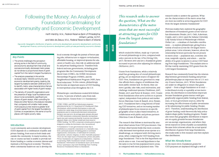 screenshot of Following the Money article as published in The Foundation Review